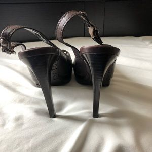 BCBG Shoes - BCBG peep toe heels